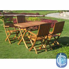 International Caravan Royal Tahiti Almeria 5-Piece Outdoor Dining Set