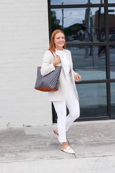 White Casual Summer Workwear - Oh What A Sight To See Barrington Gifts, Summer Work Wear, Cute Blouses, Linen Blazer, White Casual, White Pants, Work Pants, Casual Summer, Dress Code