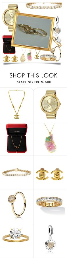 """""""gold"""" by taltoltul3 ❤ liked on Polyvore featuring Rip Curl, Chanel, Pandora, Palm Beach Jewelry and Hueb"""