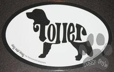 Euro Style Nova Scotia Duck Tolling Retriever Toller Dog Breed Magnet