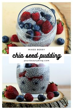 How to make mixed berry chia seed pudding recipe. I added strawberry and blueberry or use your favorite fruit. Perfect meal prep breakfast or dessert with overnight chia seed putting. This simple recipe is dairy free with almond milk and has no sugar so it's low carb and healthy. It's thick, creamy and an easy recipe. #chiaseed #berry #strawberry #blueberry Diy Hair Care, Strawberry Blueberry, Pudding Recipe, Mixed Berries, Nutritious Meals, Chia Seeds, Natural Living, Almond Milk, Fresh Fruit