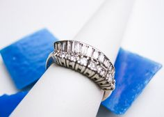 1930s Authentic Art Deco Platinum & Diamond Ring, $2250.00