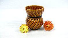 Small vase. Ceramic flowerpot. Clay pottery. by VintageLittleGems