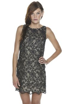 Erin Fetherston — Sheer Floral Overlay Tank Dress — LBD