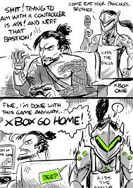 Image result for overwatch genji and hanzo fanart comic