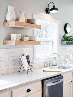 kitchen shelf floating design