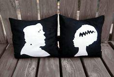 SALE Frankenstein pillow, Halloween Pillow, Pillow, Halloween Decor, Bride of Frankenstein, Frankenstein, Halloween, Gift, Christmas Gift