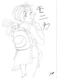 Monica [desenho a mão - lapiseira]