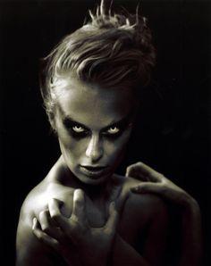 Caridee English . America's Next Top Model, Cycle 7 > Photo Shoot 6: Black and White Scary/Sexy Beauty Shots