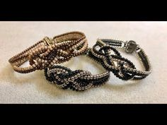 Beaded Knot Bracelet and Ring ~ Seed Bead Tutorials Bracelet Knots, Seed Bead Bracelets, Bracelet Making, Stretch Bracelets, Cuff Bracelets, Survival Bracelets, Seed Beads, Bead Jewelry, Beading Tutorials