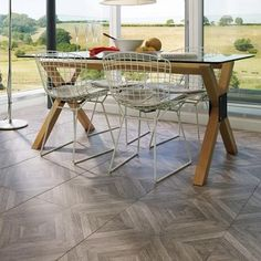 Parquet Floor Tiles looking great in this modern house.