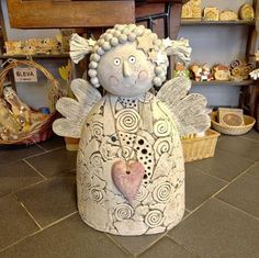 Bildergebnis für chráněná dílna teplice Crafty Angels, Clay Angel, Pottery Angels, Angel Artwork, Ceramic Angels, Hand Built Pottery, Biscuit, Clay Flowers, Air Dry Clay