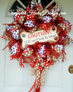 Deco Mesh Wreath, Dog Themed Wreath, Pet Wreath, Front Door Wreath, Pet Lovers Wreath This wreath is just SOO much fun and is sure to get