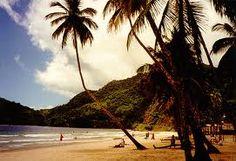 Maracas Bay, Trinidad. A gorgeous little beach nestled in the costal mountains.