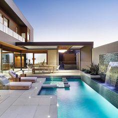 Mt Waverley Residence by urban_angles Creative backyard pool designs.