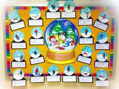 NO PREP Winter Bulletin Board!  If I lived in a snow globe Writing and Craft Templates - Kindergarten 1st 2nd