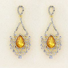 Ethnic Vintage Long Big Crystal Dangling Earring Gold Plated Jewelry Fashion Brand Glass Rhinestone Drop Earring Cuffs For Women 7