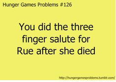 I did!  Hunger Games Problems