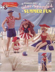 Free Copy of Crochet Pattern - Fashion Doll Star Spangled Summer Fun
