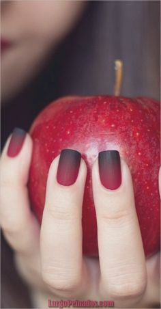 """If you're unfamiliar with nail trends and you hear the words """"coffin nails,"""" what comes to mind? It's not nails with coffins drawn on them. It's long nails with a square tip, and the look has. Ombre Nail Designs, Black Nail Designs, Winter Nail Designs, Acrylic Nail Designs, Acrylic Nails, Coffin Nails, Nail Color Trends, Fall Nail Colors, Fall Nail Trends"""