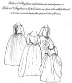 OLD TIME PATTERNS - JP Ryan #07 - Robe a l'Anglaise / Colonial Dress Pattern