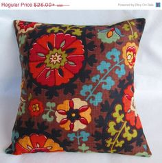 4th of JULY SALE One Richloom Suzani Decorative throw by LivePlush