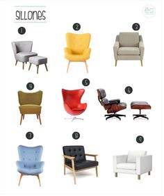 Sillones para rincones especiales | Estilo Escandinavo Chair Design, Furniture Design, Bedroom Chair, Painted Chairs, Furniture Hardware, Floor Chair, Decoration, Living Room Furniture, Upholstery