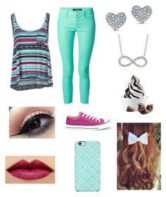 """""""Cute"""" by taylorbug1616 ❤ liked on Polyvore featuring Billabong, J Brand, Converse, Tressa and Uncommon"""