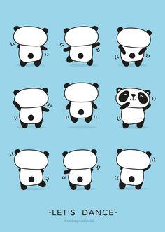 Dancing panda illustration by http://ankepanke.nl