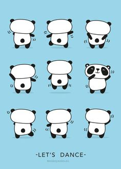 Dancing panda illustration by http://ankepanke.nl