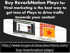 http://www.buyyoutubesubscribers.com/buy-reverbnation-plays/ : Get an instant change in #famous graph along with large number of plays on #ReverbNation post. For smooth growth in fame you can #buy #ReverbNation #plays service right now. Enhance more popularity through gaining huge number of plays.