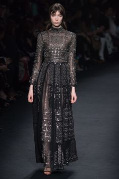 Valentino Fall 2015 Ready-to-Wear - folkloric, dress, cocktail attire, gown