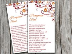 Wedding Honeymoon Fund Card Finola Orange by PaintTheDayDesigns, $10.00