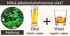 Mikä alkoholiyhdistelmä olet?