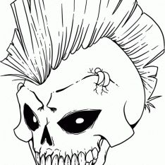 Skull Coloring Pages Printable