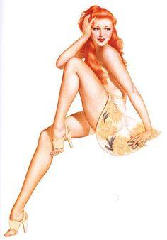 Redhead pin up girls