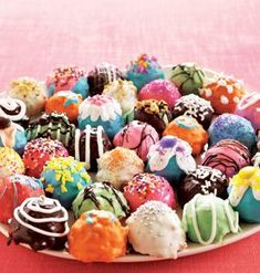 Gluten Free Cake Balls, recipe included. How colorful!