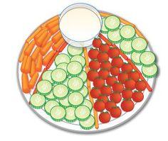 Beach Ball Veggie Plate