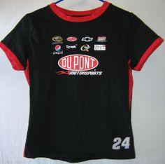 #NASCAR fans! NASCAR Winners Circle Jeff Gordon 24 Womens Cap Sleeve Black Red Size Large #GraphicTee #JeffGordon