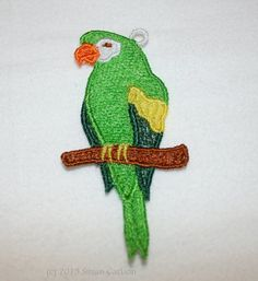 Amazon Parrot Ornament on Etsy, $6.00