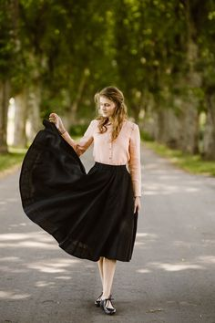 56019c06663f62 Black Midi Skirt Black Linen Skirt Black Circle Skirt High | Etsy Black  Circle Skirts,