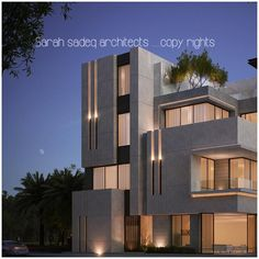 Discover the most glamorous and exciting architecture inspiration for your next interior design project at Modern House Facades, Modern Architecture House, Facade Architecture, Bungalow House Design, House Front Design, Interior Exterior, Exterior Design, Modern Villa Design, Contemporary Design