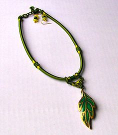 Olive Green Necklace Asian Silk Wrap  by BEADEDNECKLACESHOPPE, $40.00
