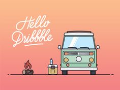Hello Dribbble  by Stanislav Aleynikov