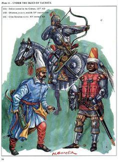 16a Consul italien en Crimée 1377  16b Janissaire Ottoman 15eme siècle  16c Tatar de Crimée 15eme siècle
