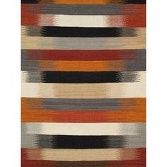 Modern Reversable Red Wool Kilim II - 5' x 8'