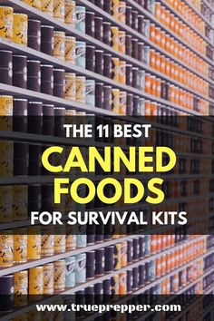 The 11 Best Canned Foods for Survival Kits preppers food idea Best Survival Food, Survival Prepping, Survival Gear, Survival Skills, Survival Hacks, Survival Equipment, Survival Stuff, Urban Survival, Best Emergency Food