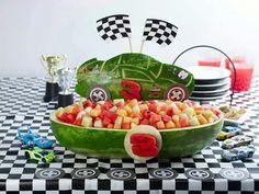 Nascar melon art