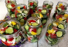 Koreczki z ogórków w zalewie - przetwory na zimę - Blog z apetytem Fresh Rolls, Preserves, Pickles, Food And Drink, Cooking, Ethnic Recipes, Blog, Projects, Diy