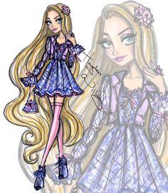 Hayden Williams Fashion Illustrations | Disney Diva Fashionistas by Hayden Williams: Rapunzel